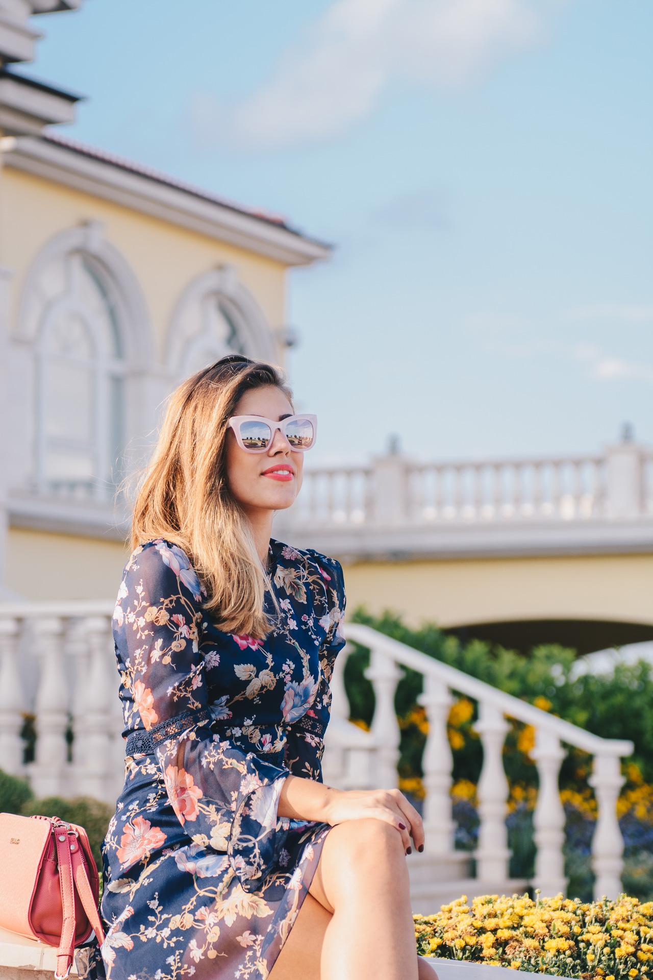 ddfdd166b0 Romantic floral midi dress Lighthouse fashion blogger