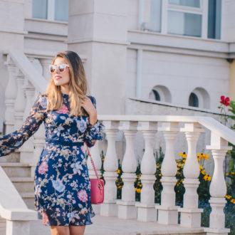 Sunset Liu Jo floral silk dress - копринена рокля LIU JO