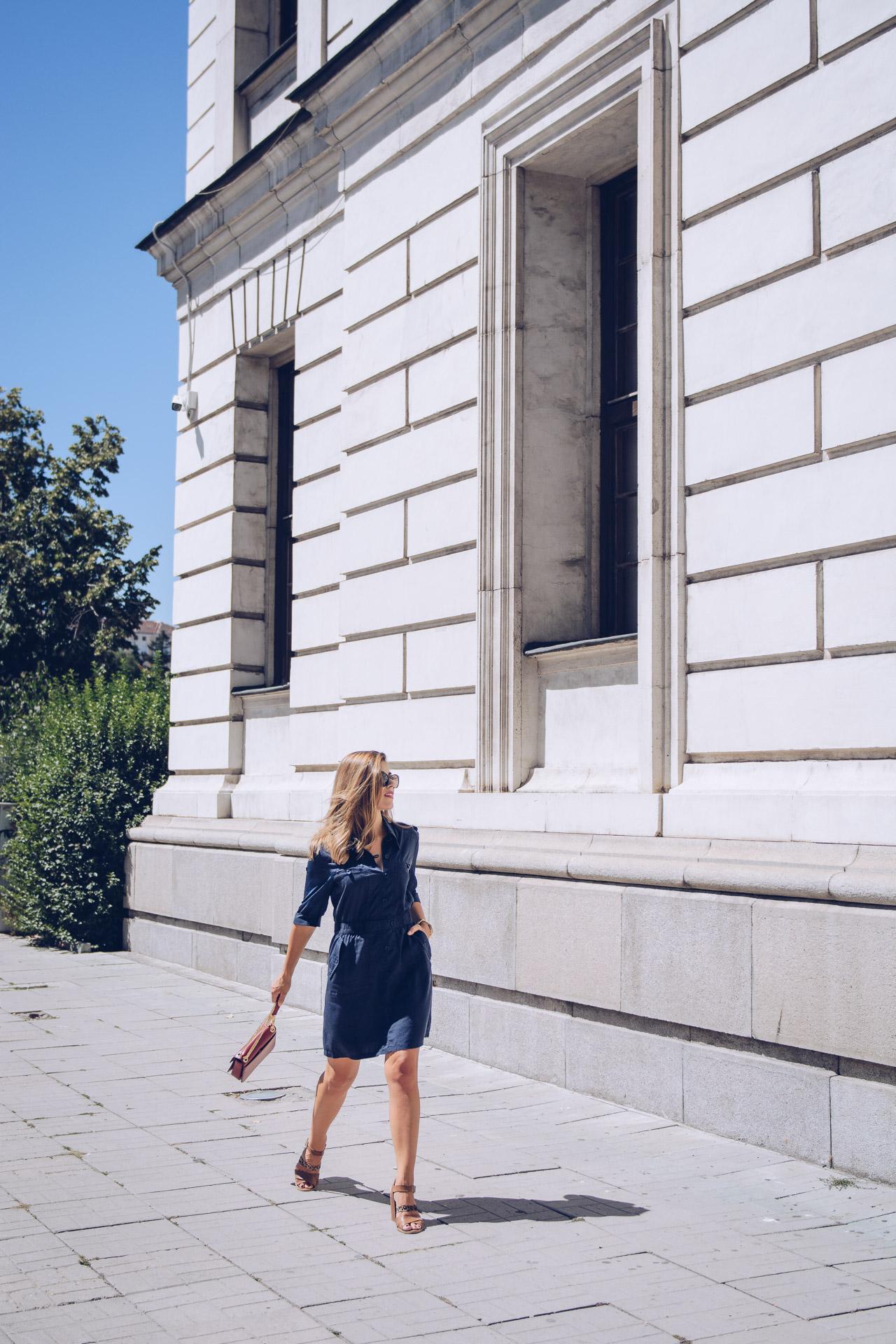 Wearing desigual midi dress