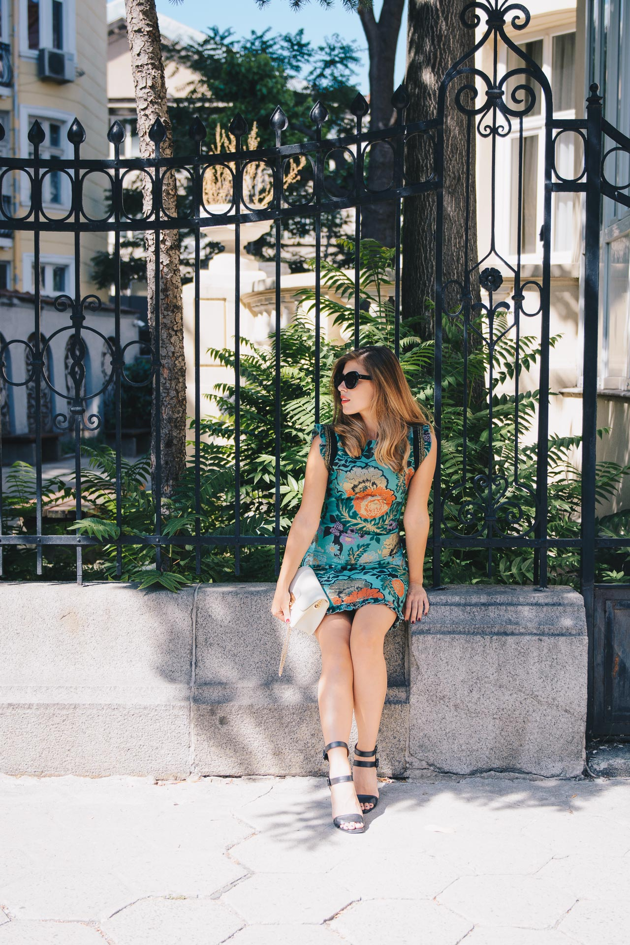 Fall floral chic dress