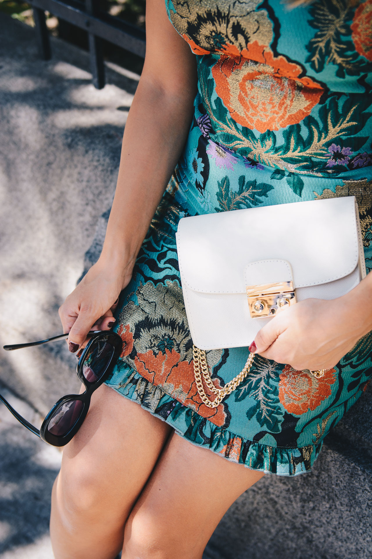 Fall floral dress chic