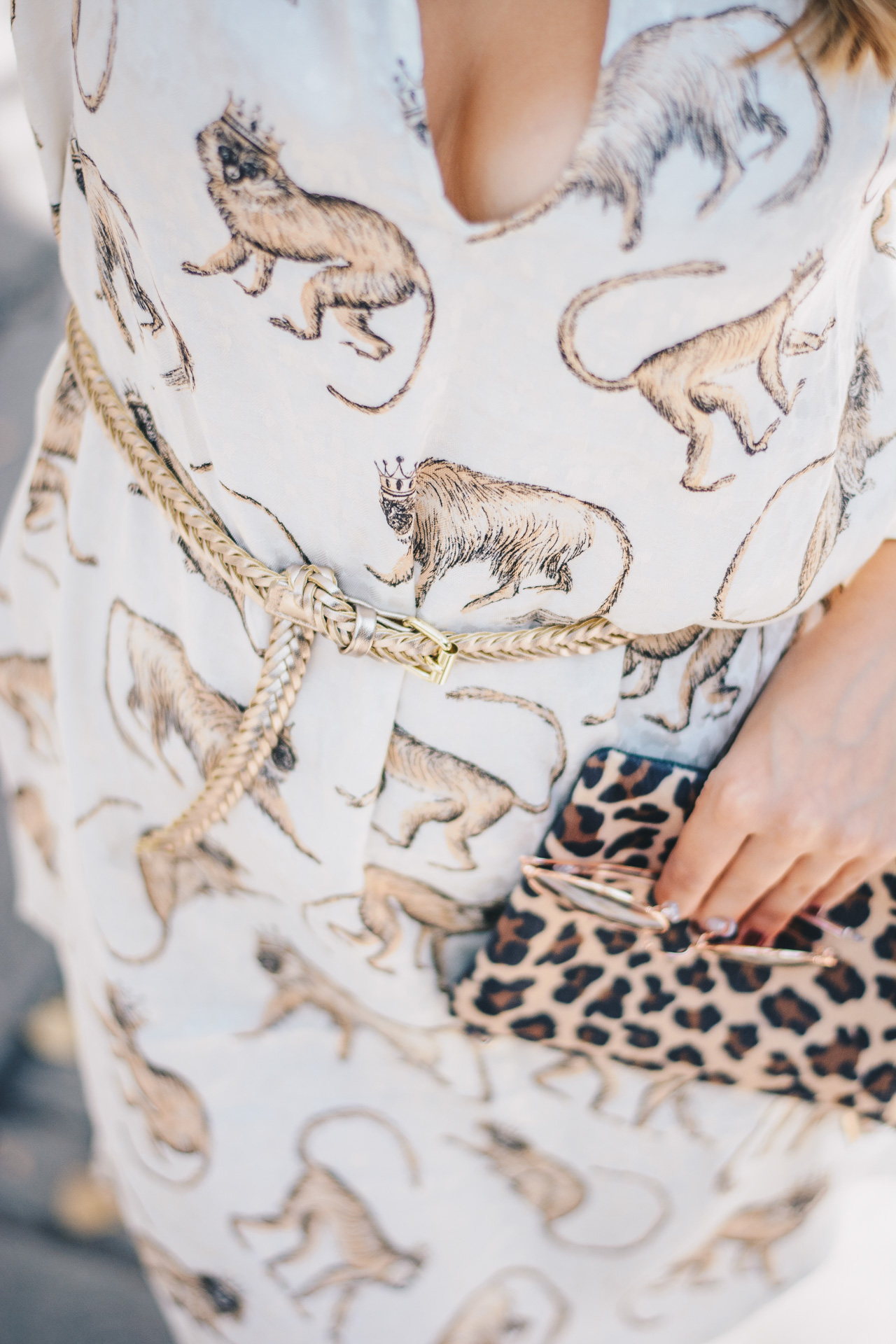 Monkey patterned dress