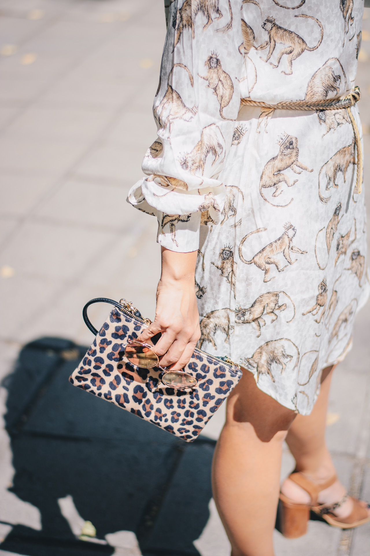 animal print dress clutch
