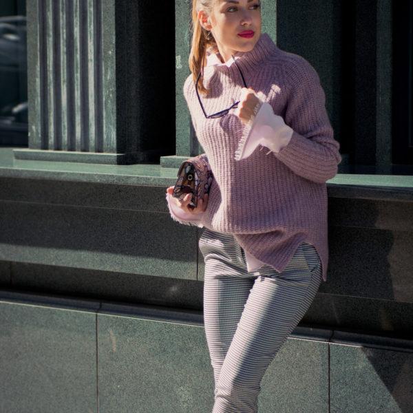 Elegant street style blogger