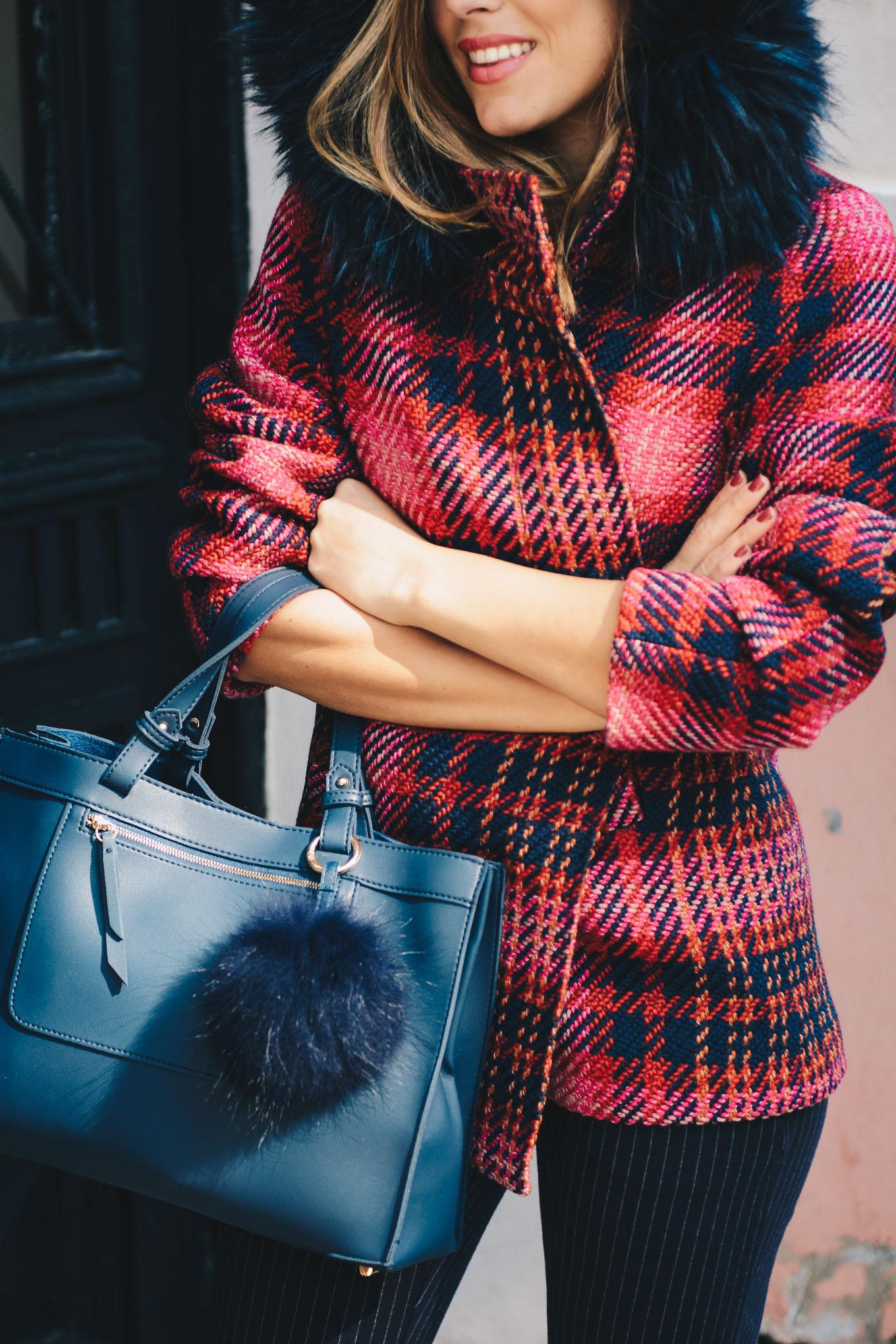 Esprit Тартан палто