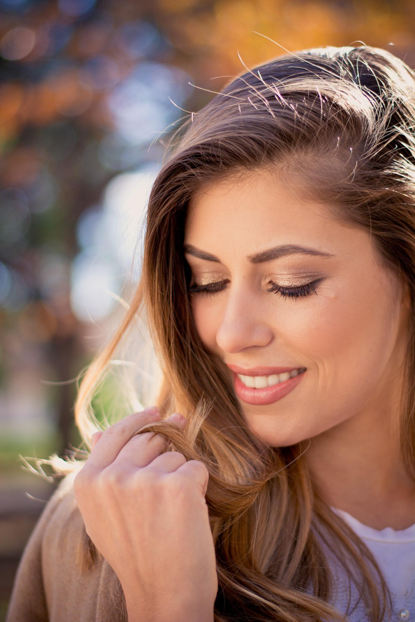 Estee lauder Victoria Beckham LA make up look