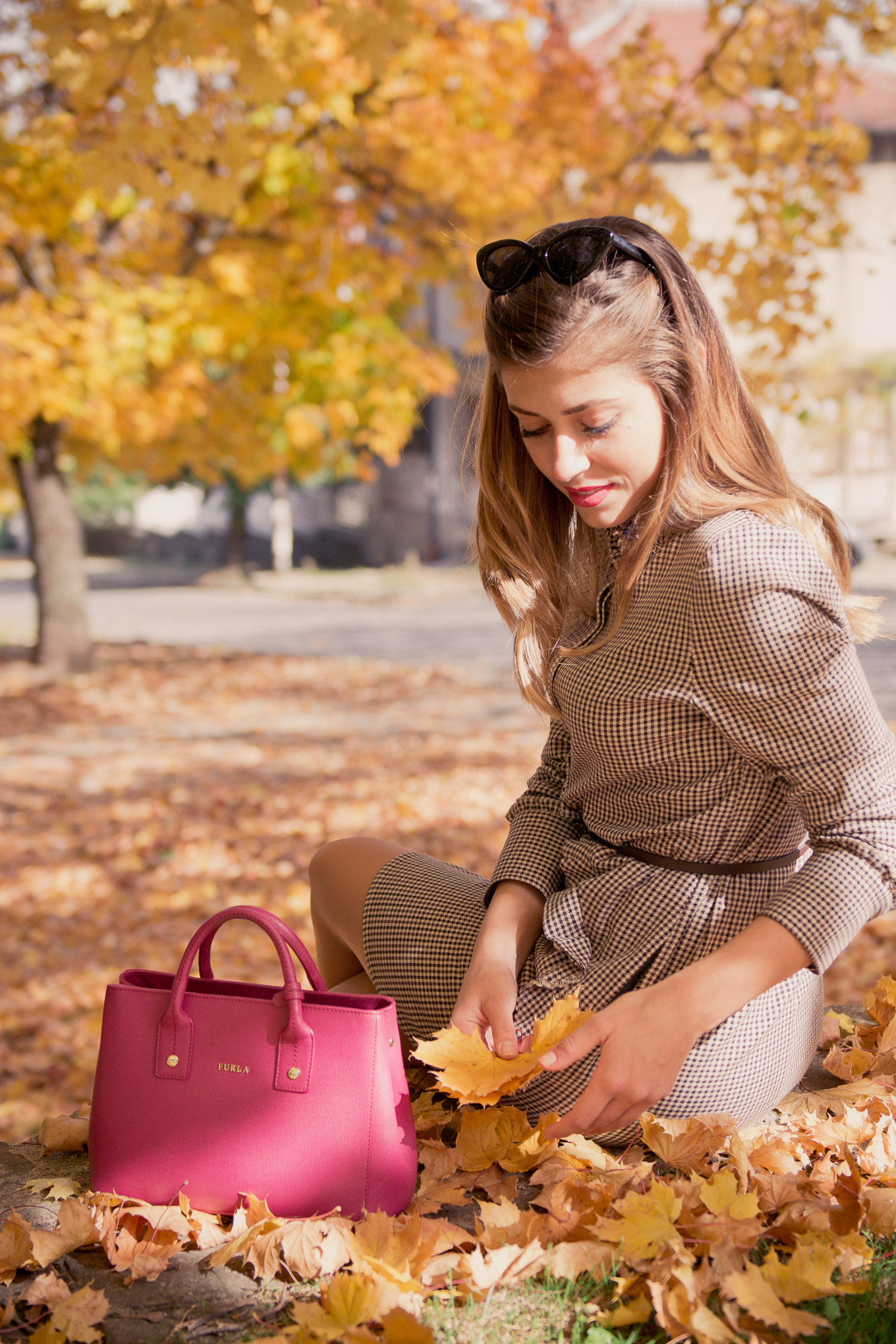 Falling into fall furla handbag