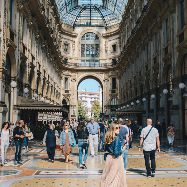 Galleria Vittorio Emanuele during fashion week