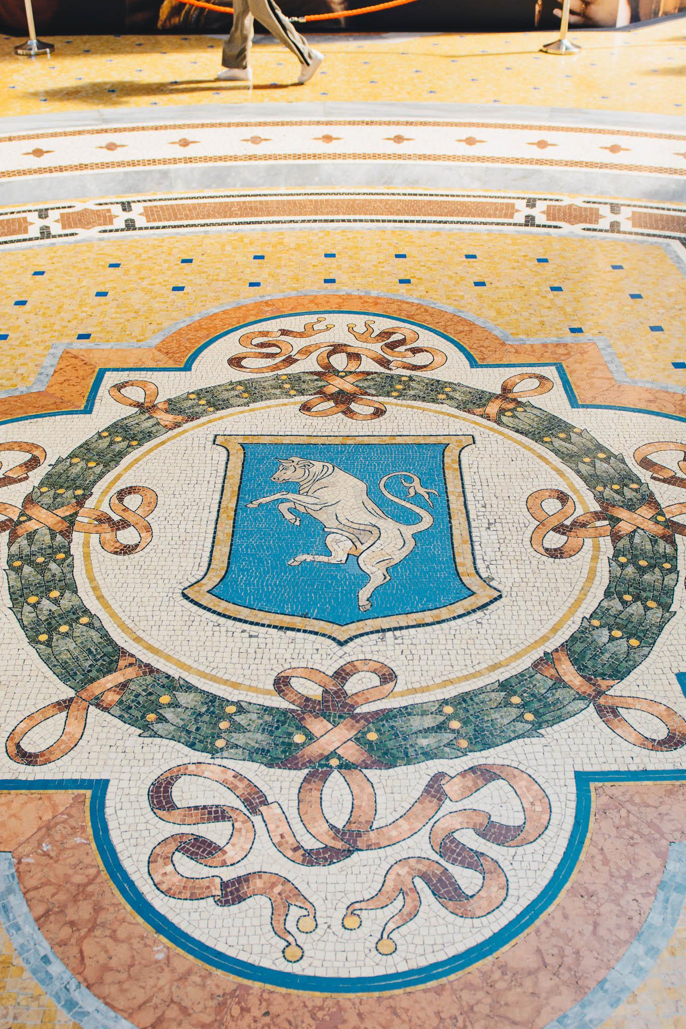 Lucky step Galleria Vittorio emanuele