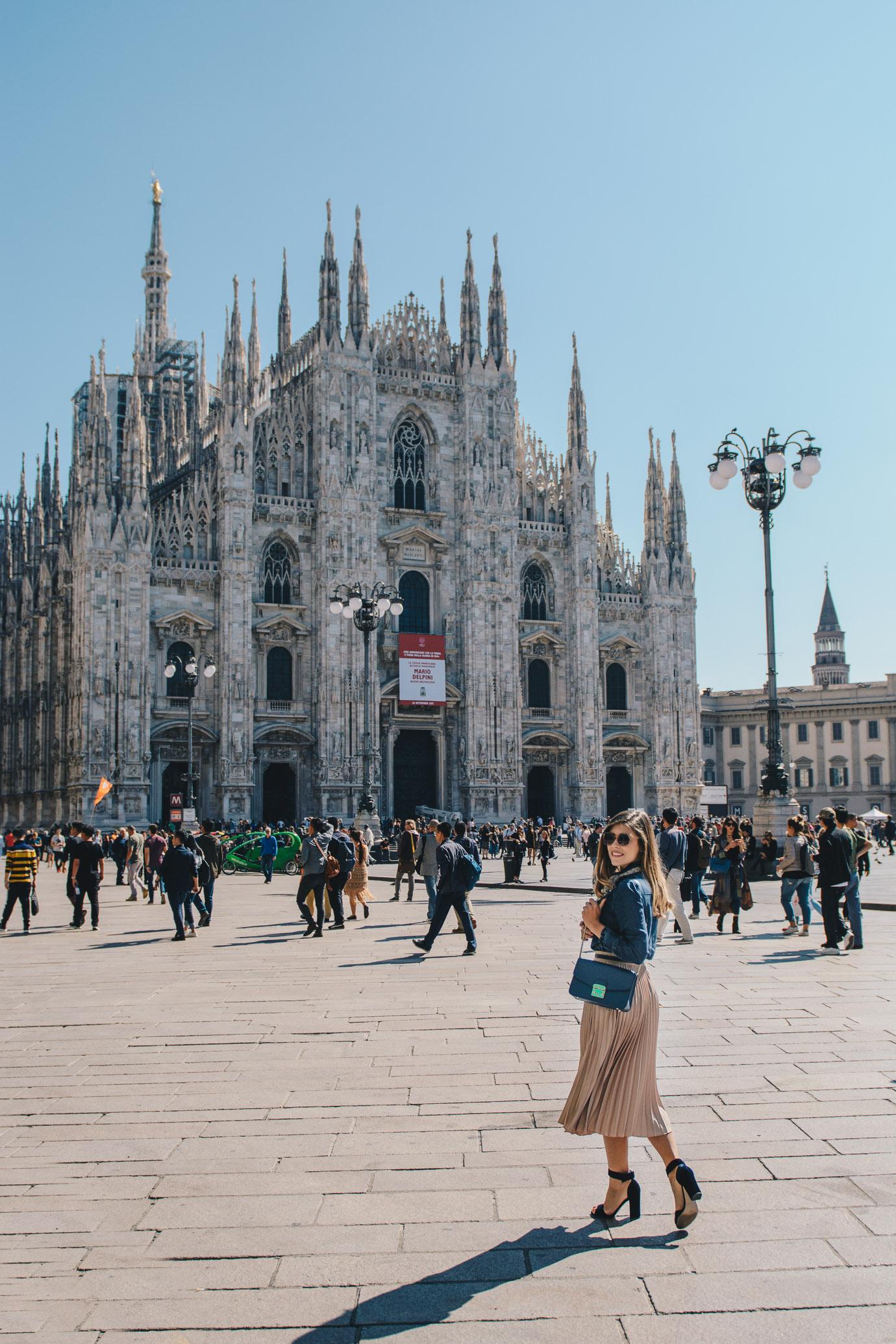 Milan Duomo fashion week