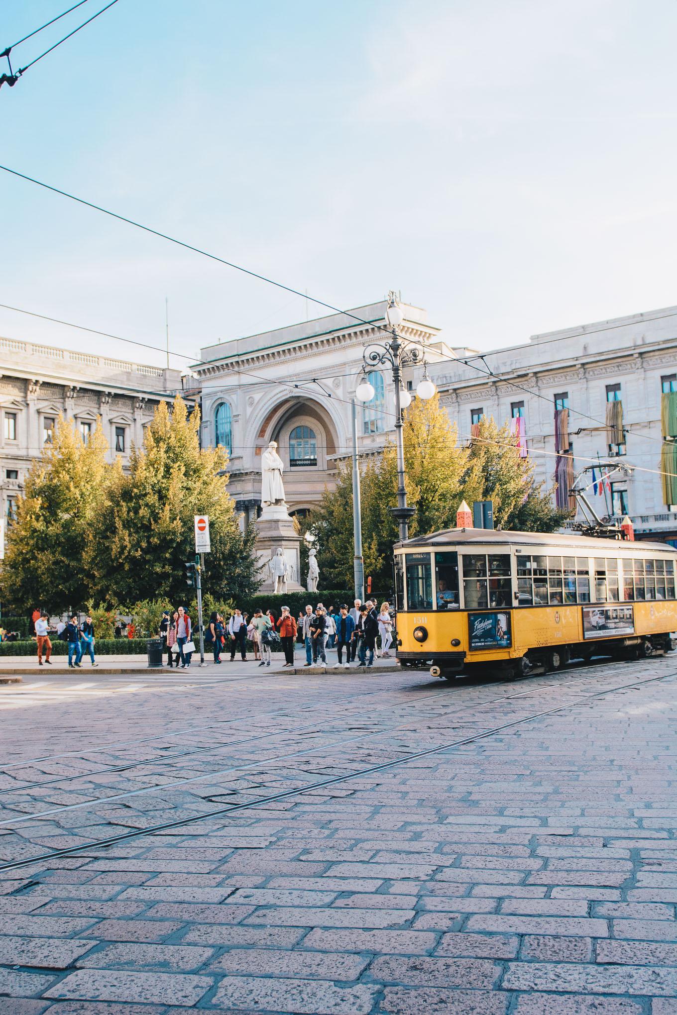 Milan tram streets