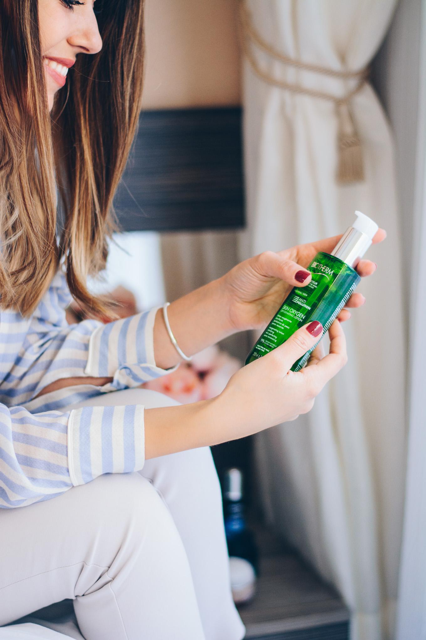 Използване Biotherm anti pollution skin oxygenating lotion