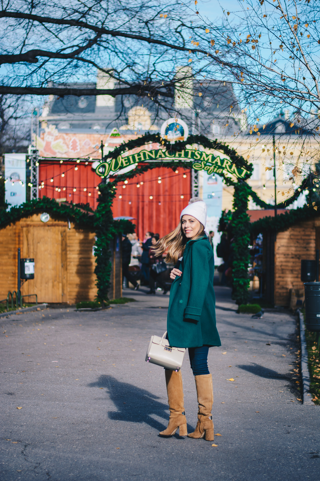 Benetton blogger christmas outfit