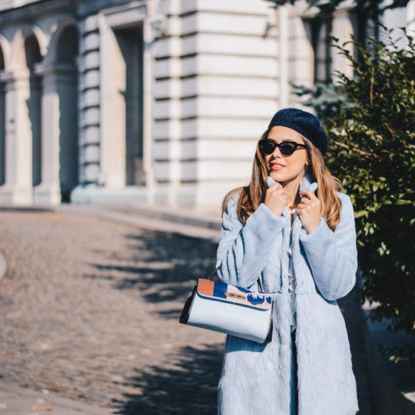 Blue Furry Coat Liu Jo