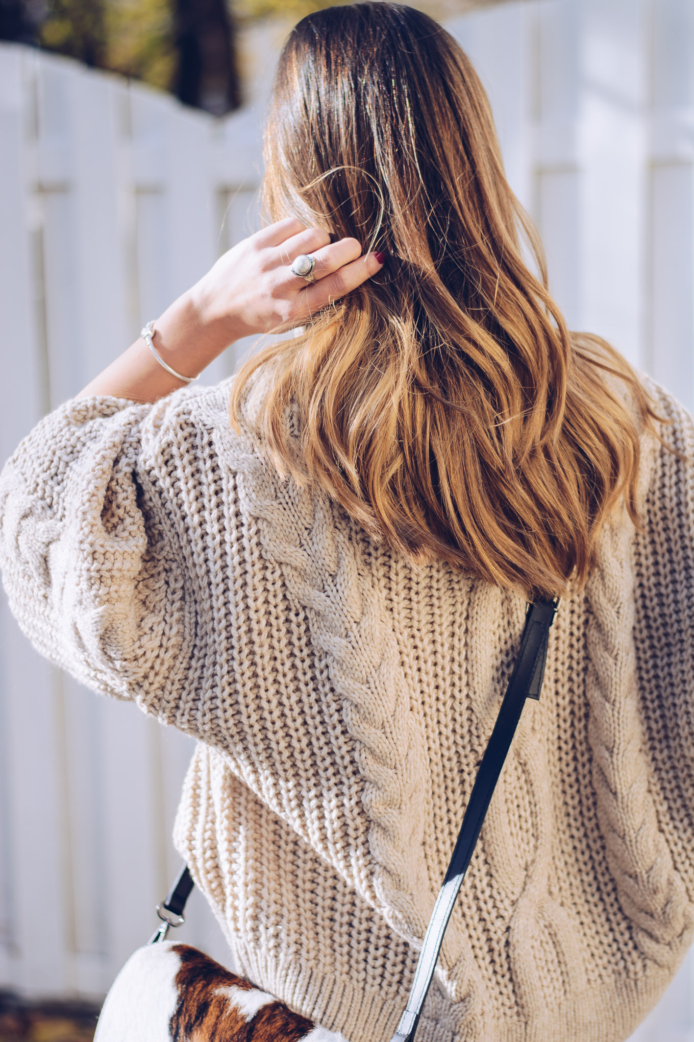 Cozy sweater back
