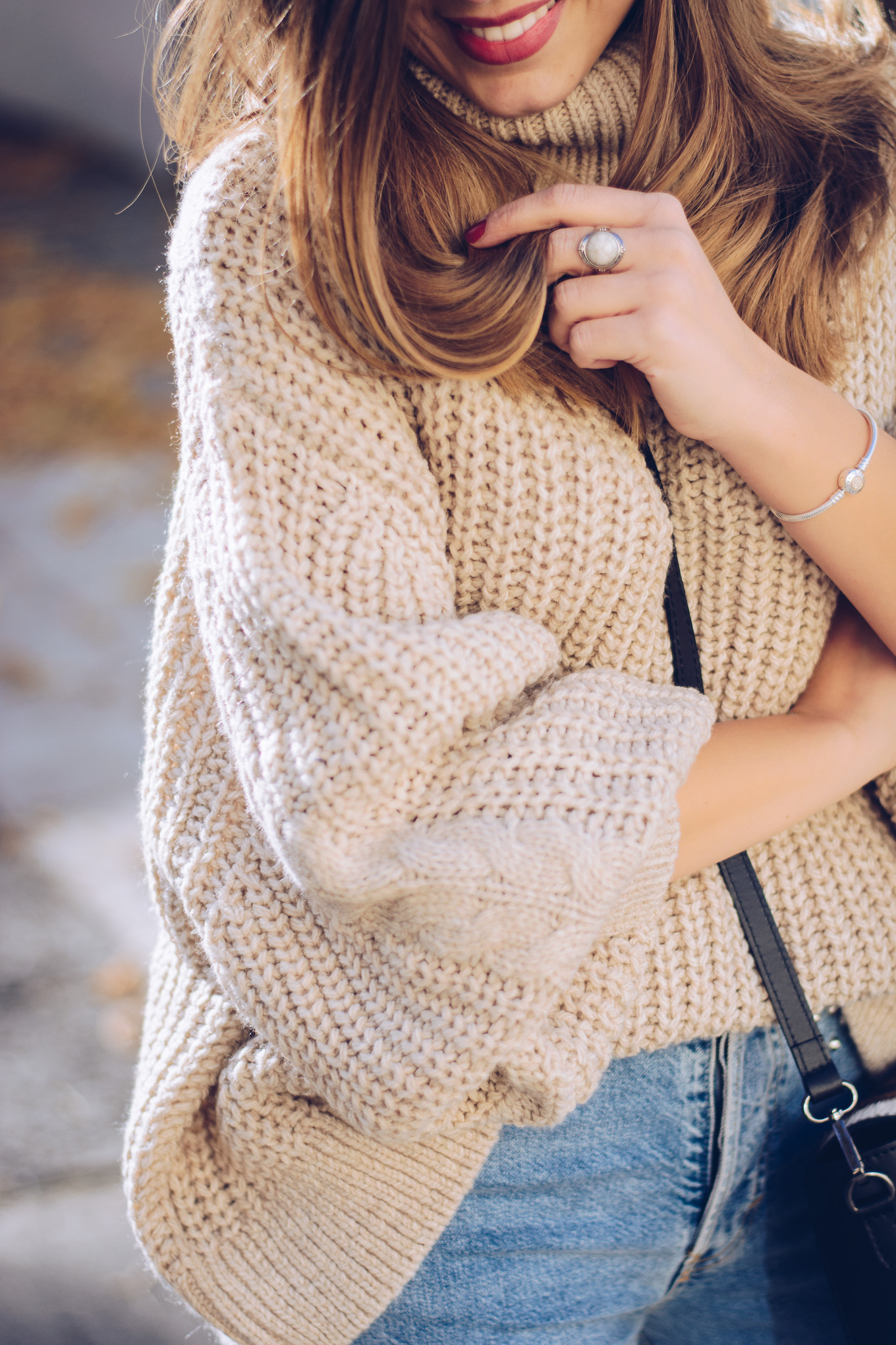 Cozy sweater hm perl ring