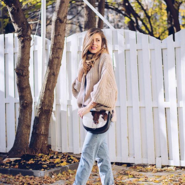 Мек пуловер + Ретро дънки cozy sweater + retro jeans