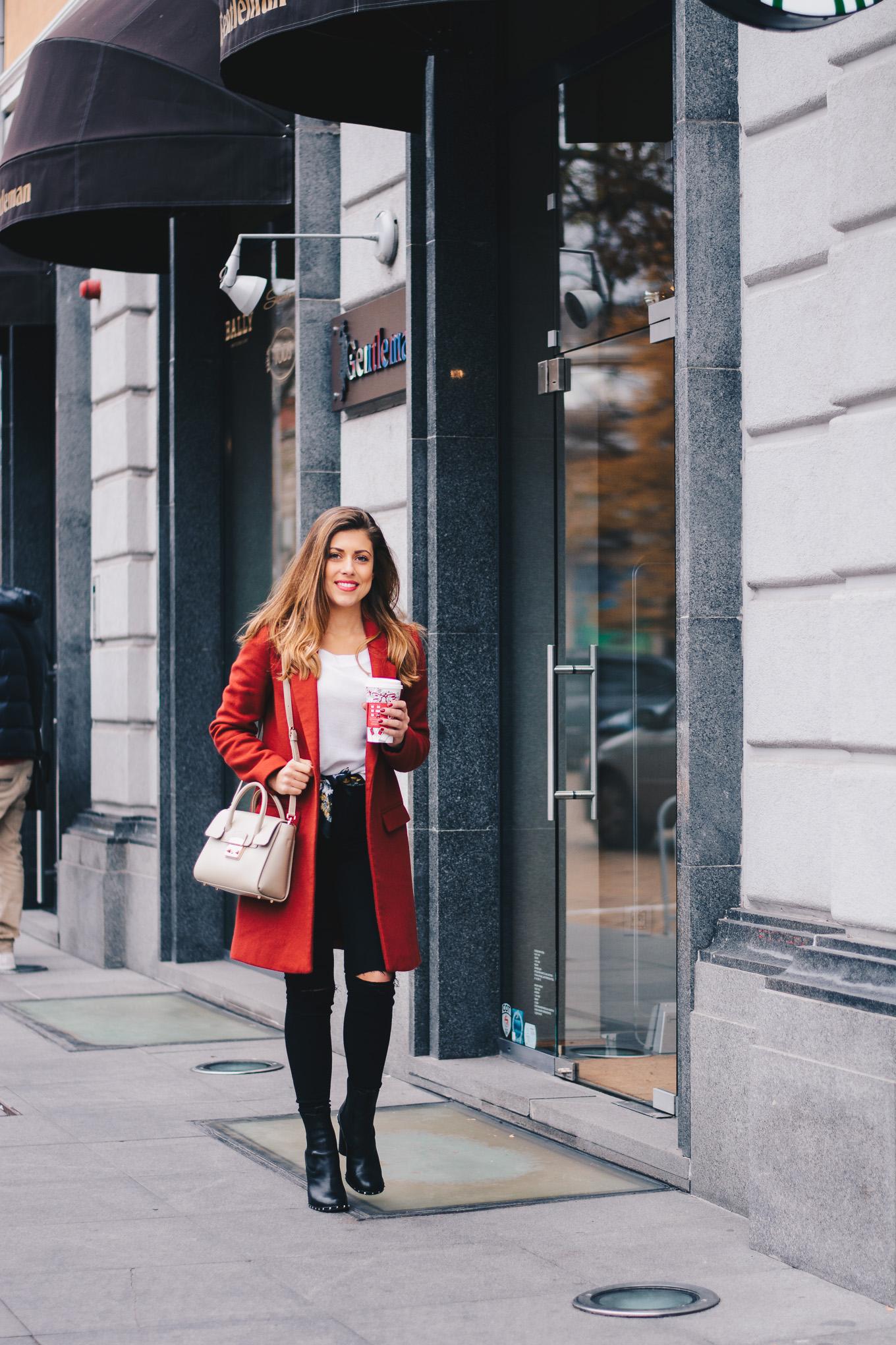 Furla metropolis handbag red coat