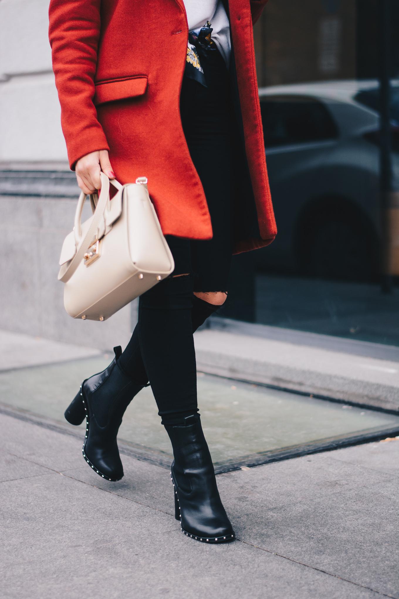 Ingiliz leather ankle boots