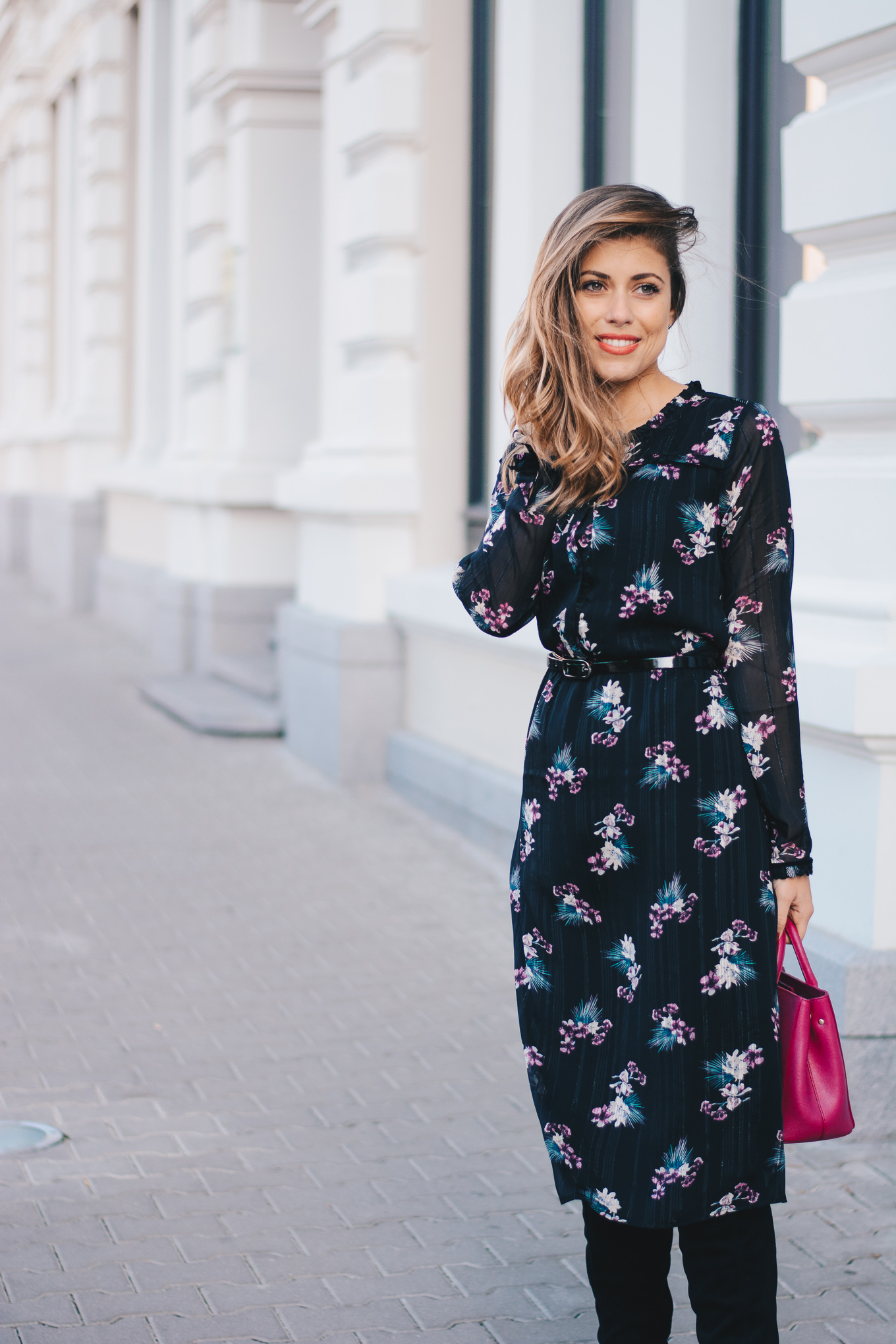Tom Tailor blogger floral dress
