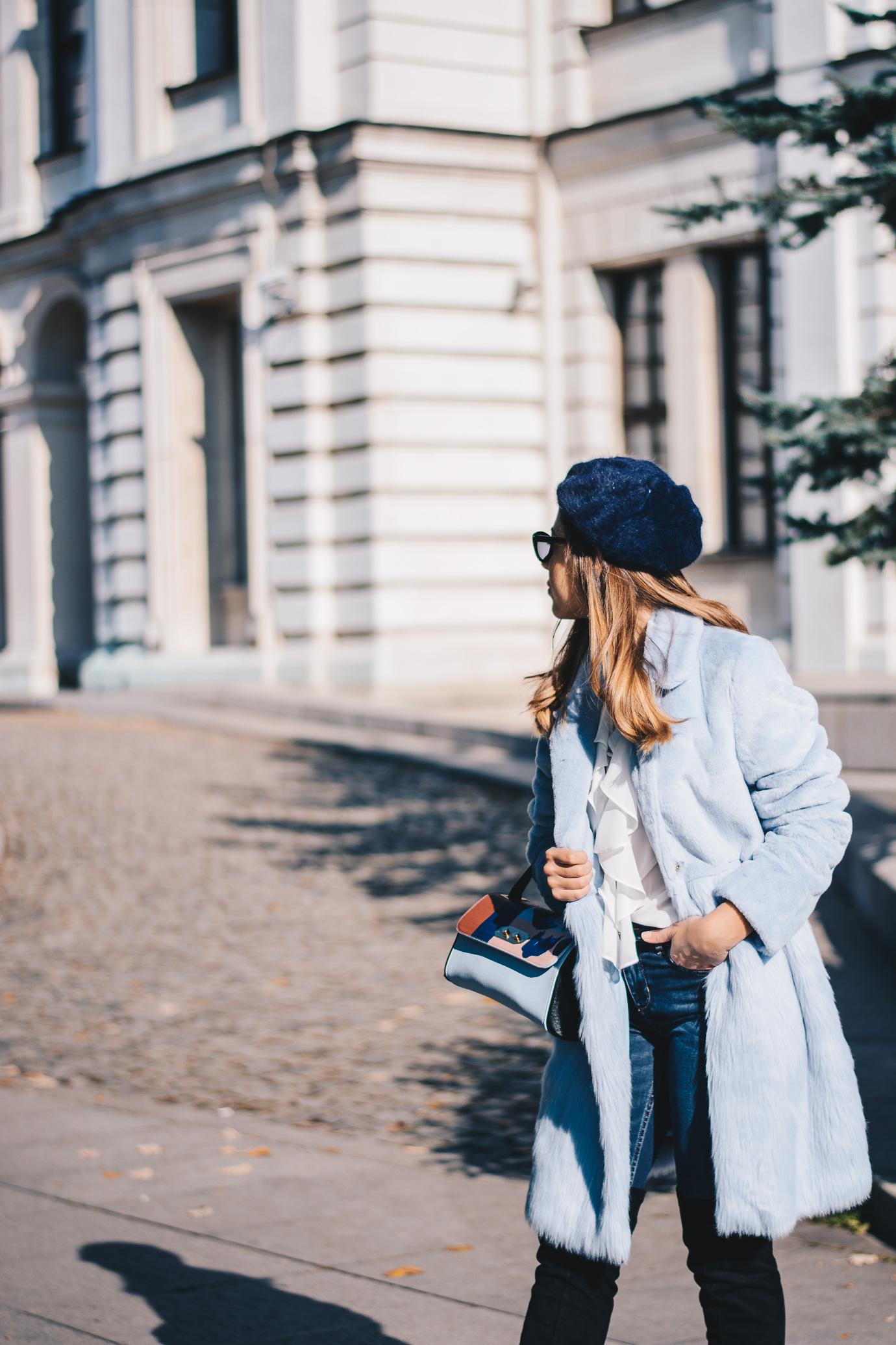 Winter blue coat