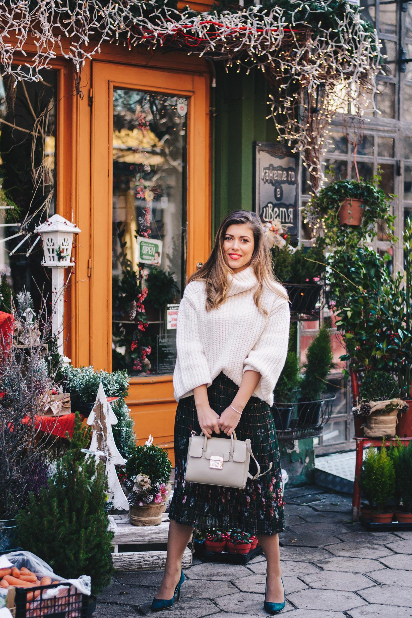 Christmas oufit idea blogger