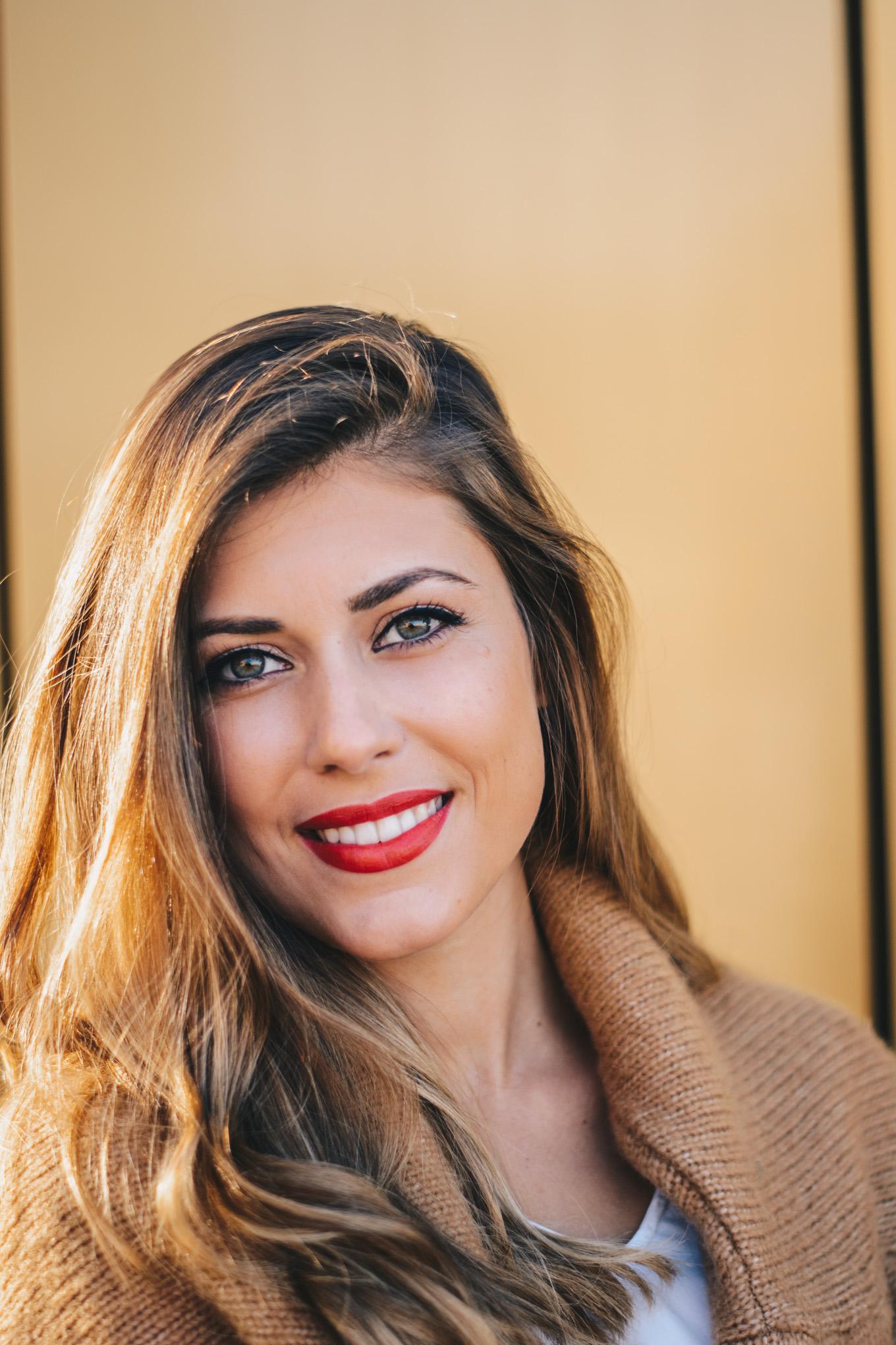 beauty look with armani beauty blogger