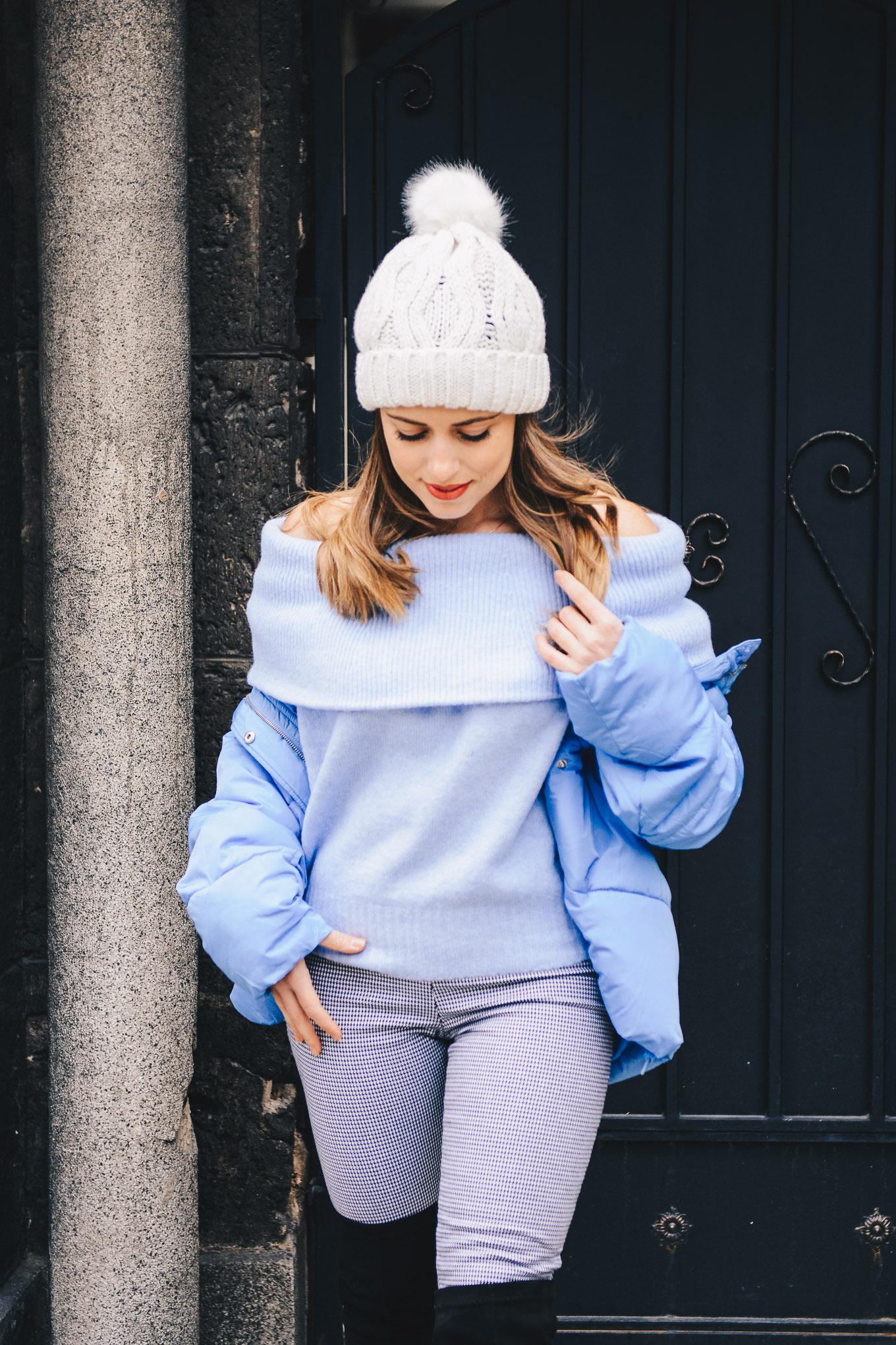Blue puffer jacket Bulgaria mall