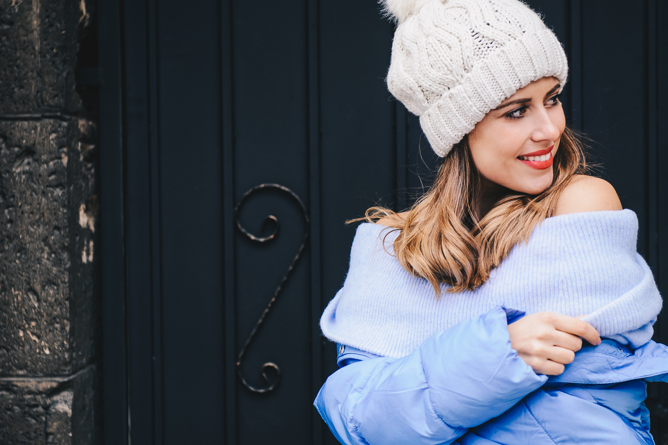 Cozy blue puffer jacket H&M