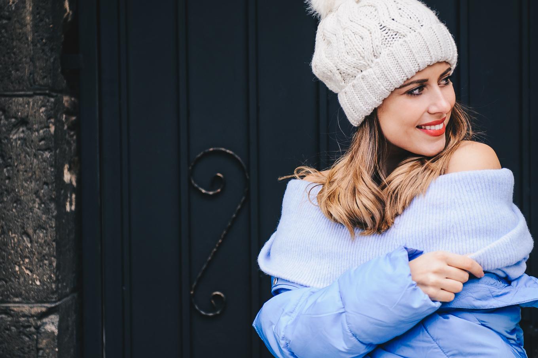 Cozy blue puffer jacket H&M