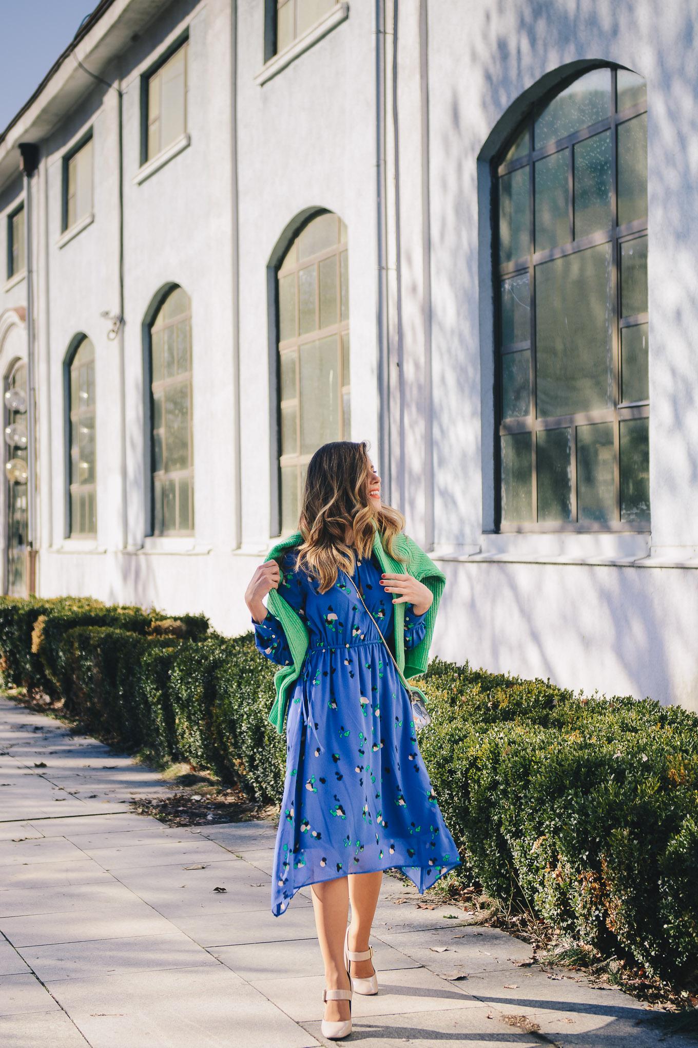 HM Spring blue dress