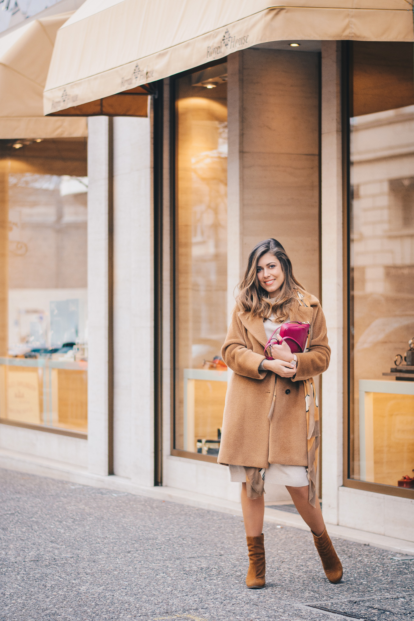 Marella camel coat