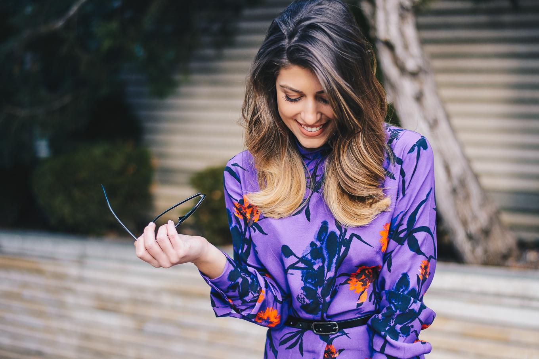 Ultra violet fashion dress HM