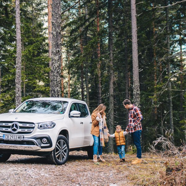 Family trip with Mercedes X class