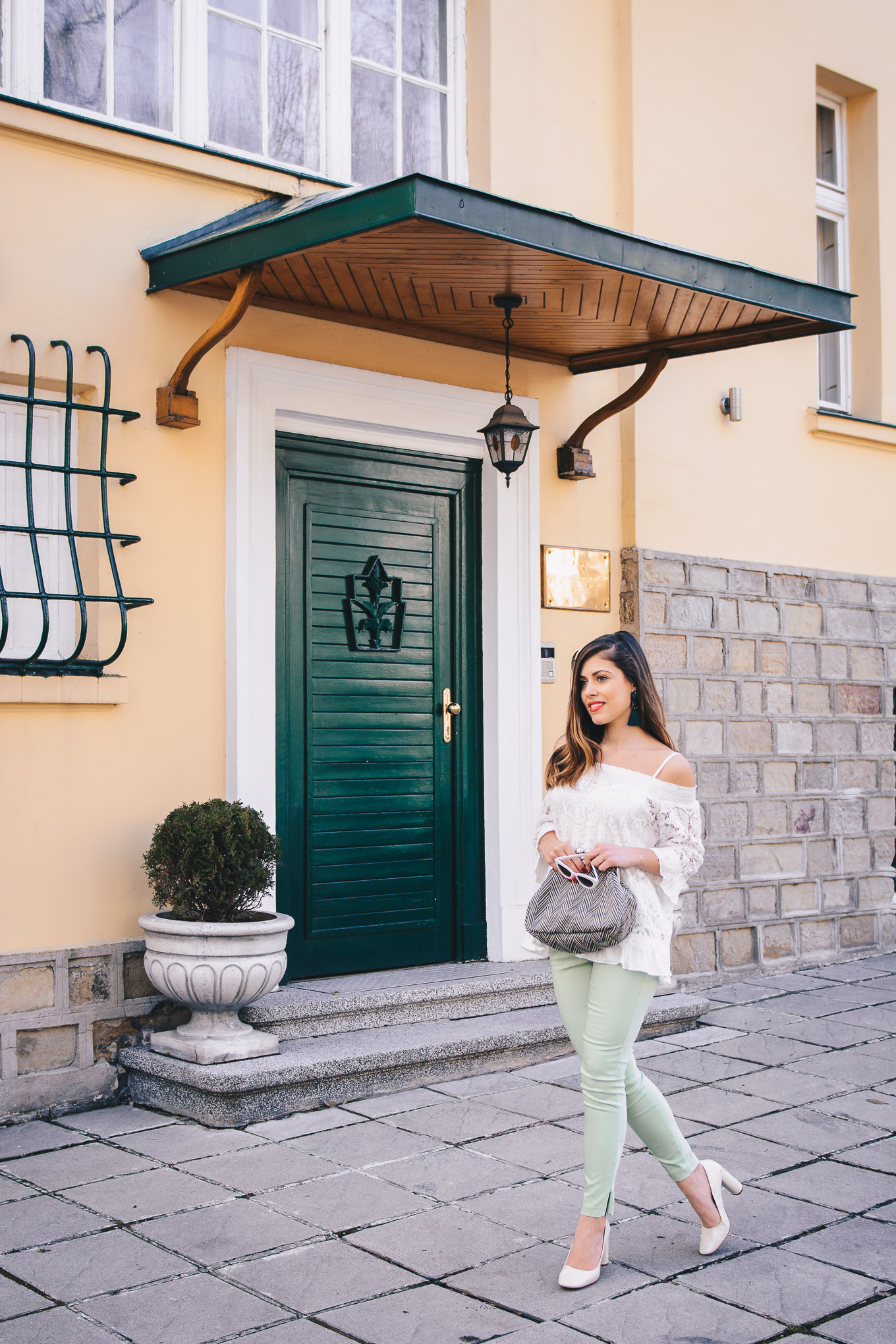 Benetton spring outfit Bulgaria mall