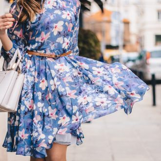 A floral dress worth the twirl