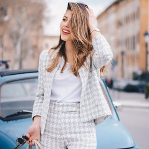 Matching Pieces for Spring + white T-shirt