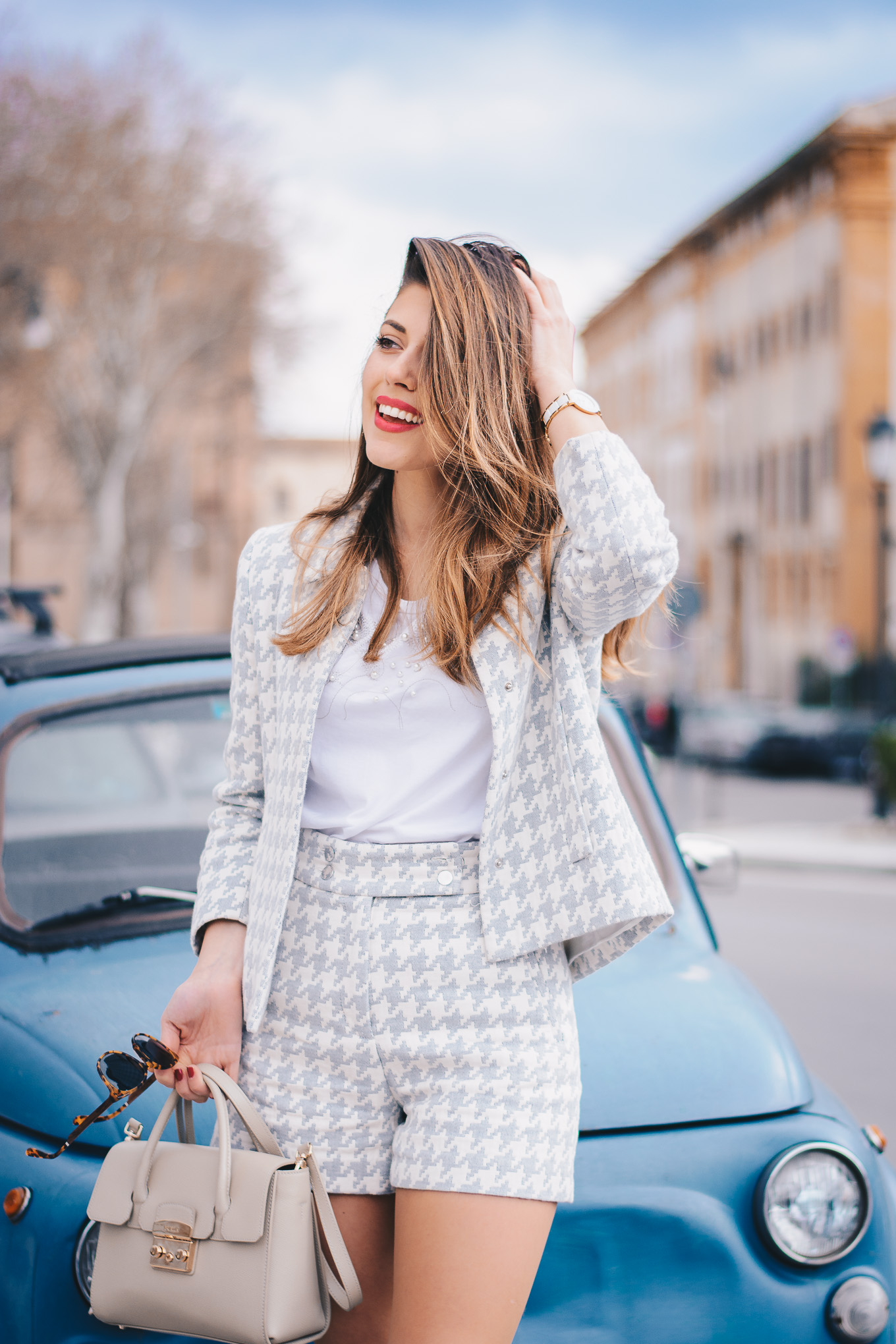 Co ord houndstooth suit