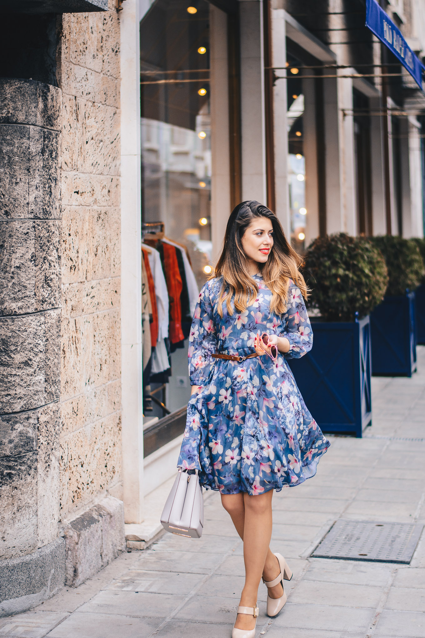 Denina Martin styling floral dress