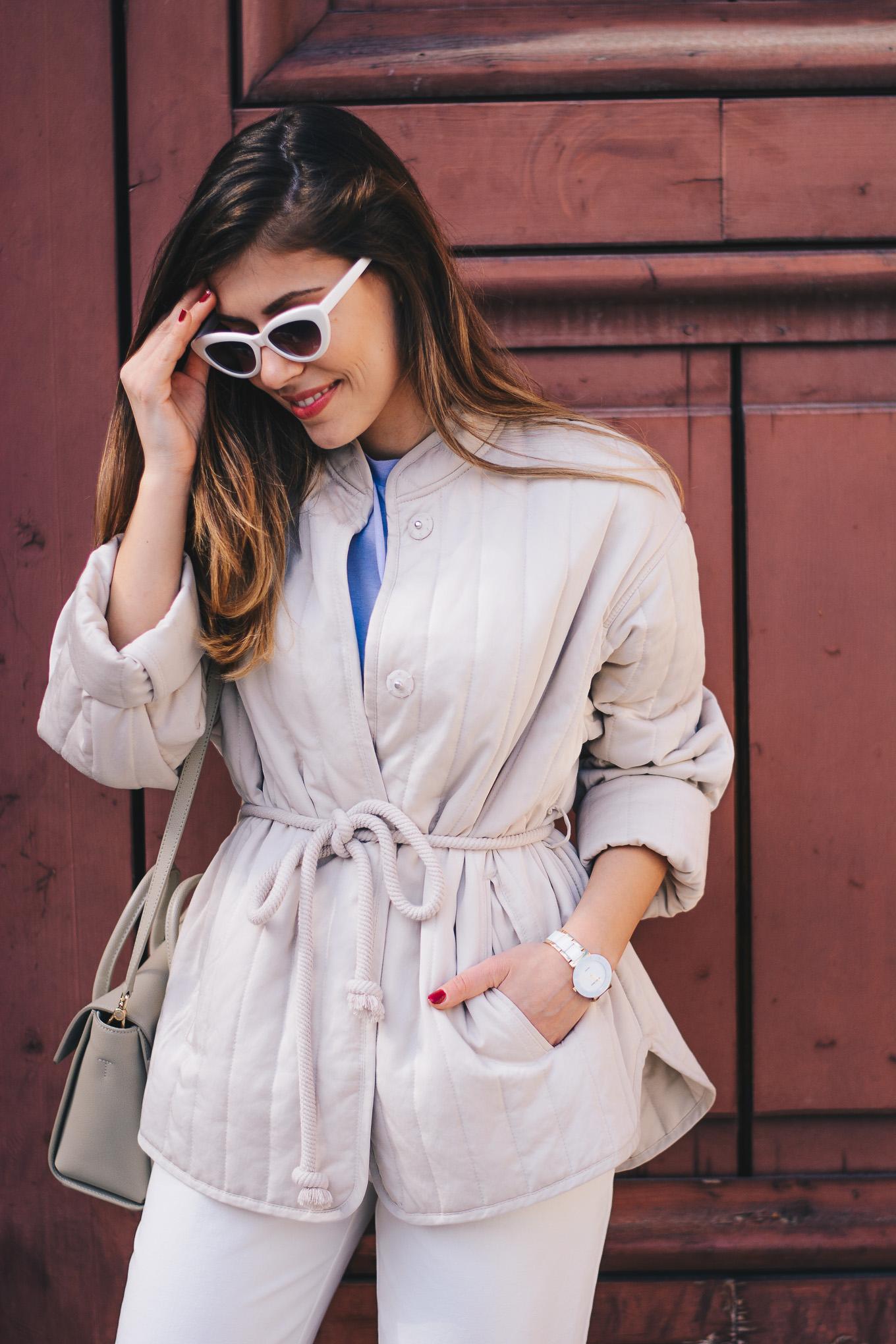 HM lite quilted jakcet Denina Martin