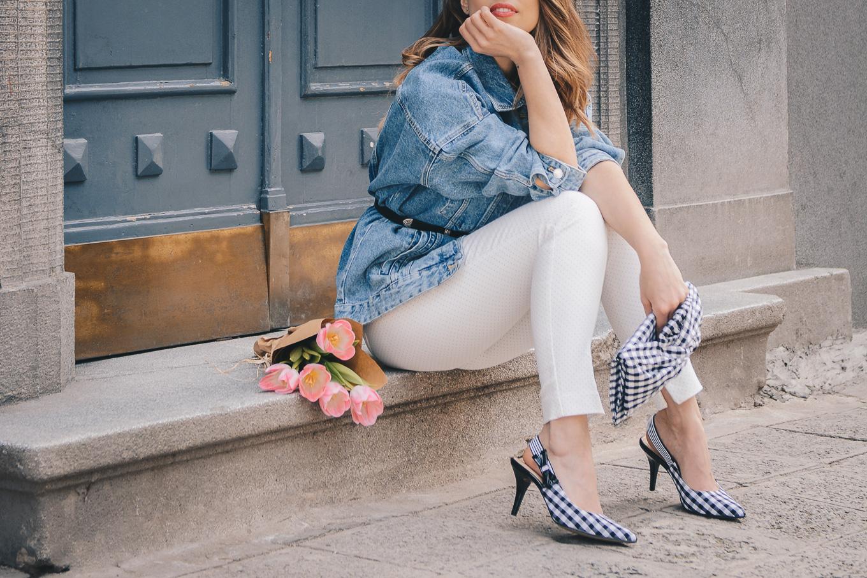 Slingback heels blogger