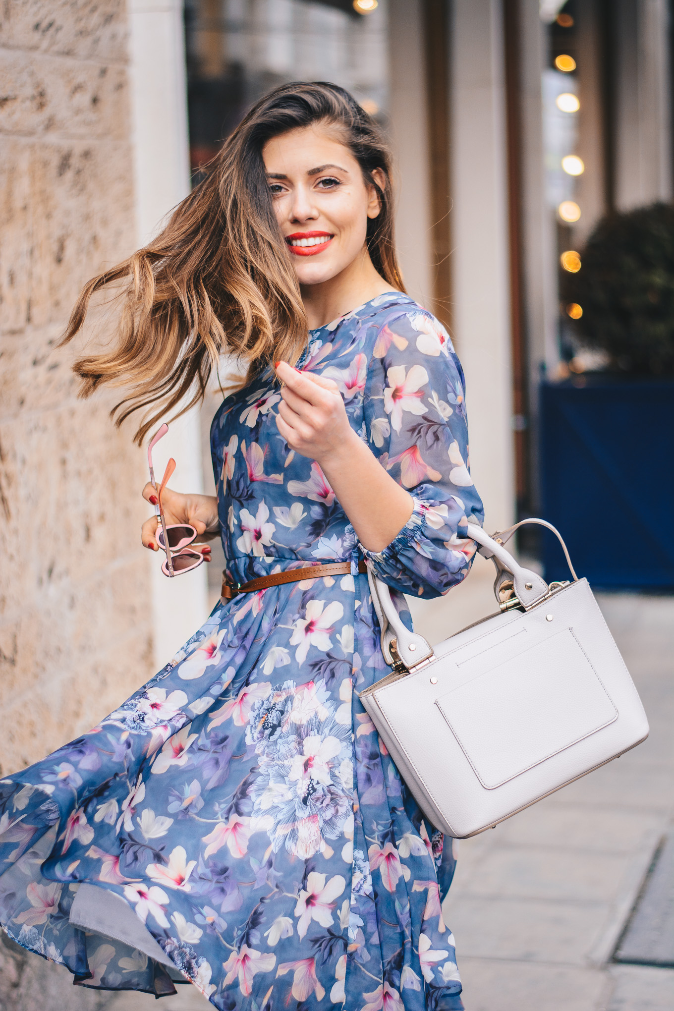 twirl the floral dress