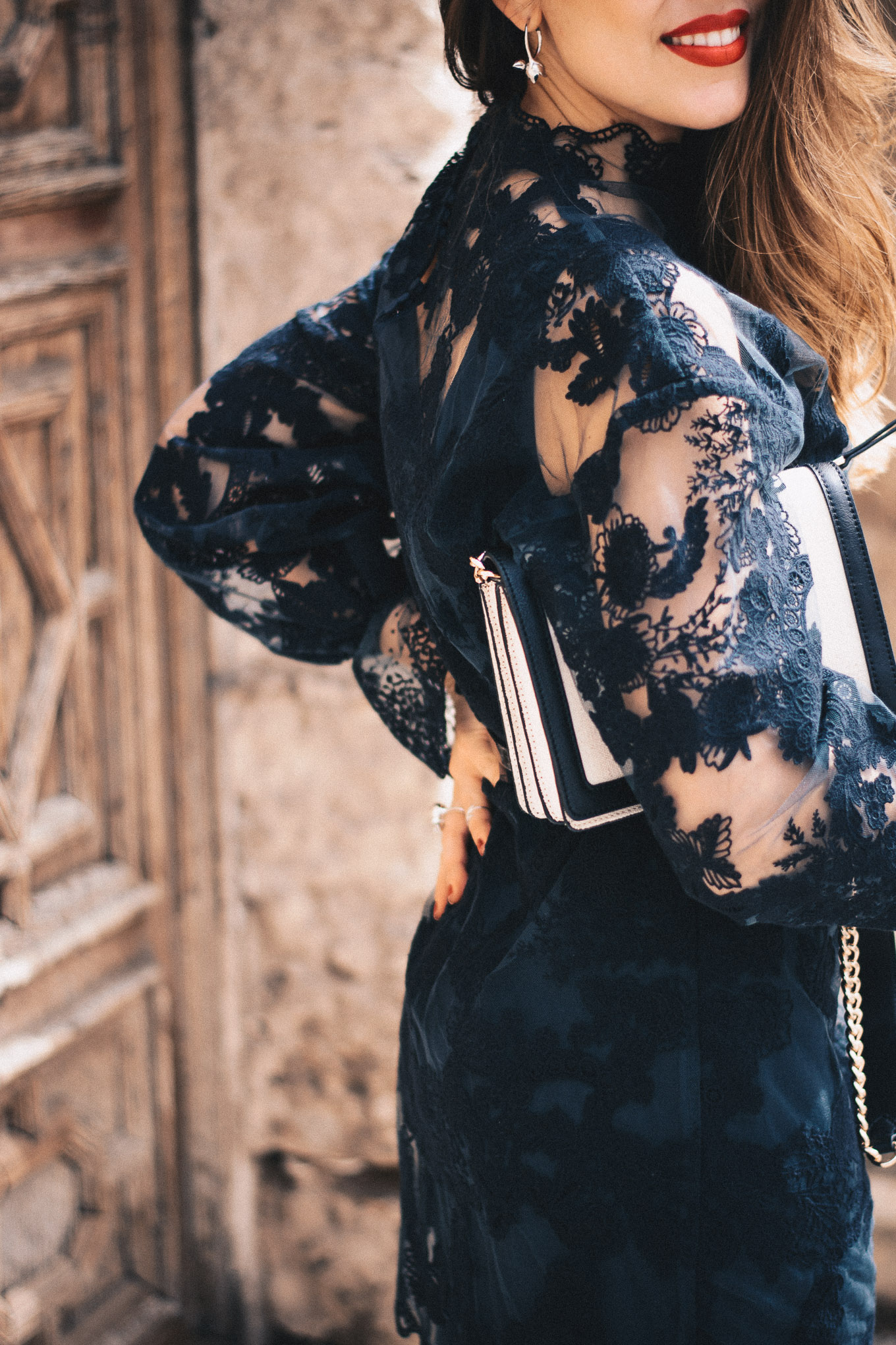 Black lace dress H&M conscious exclusive 2018