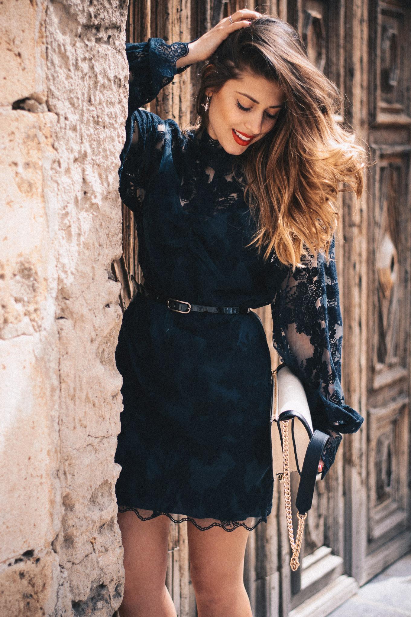 H&M conscious exclusive black lace dress