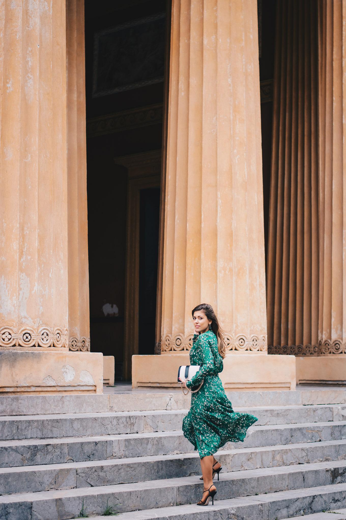 H&M organic silk dress 2018
