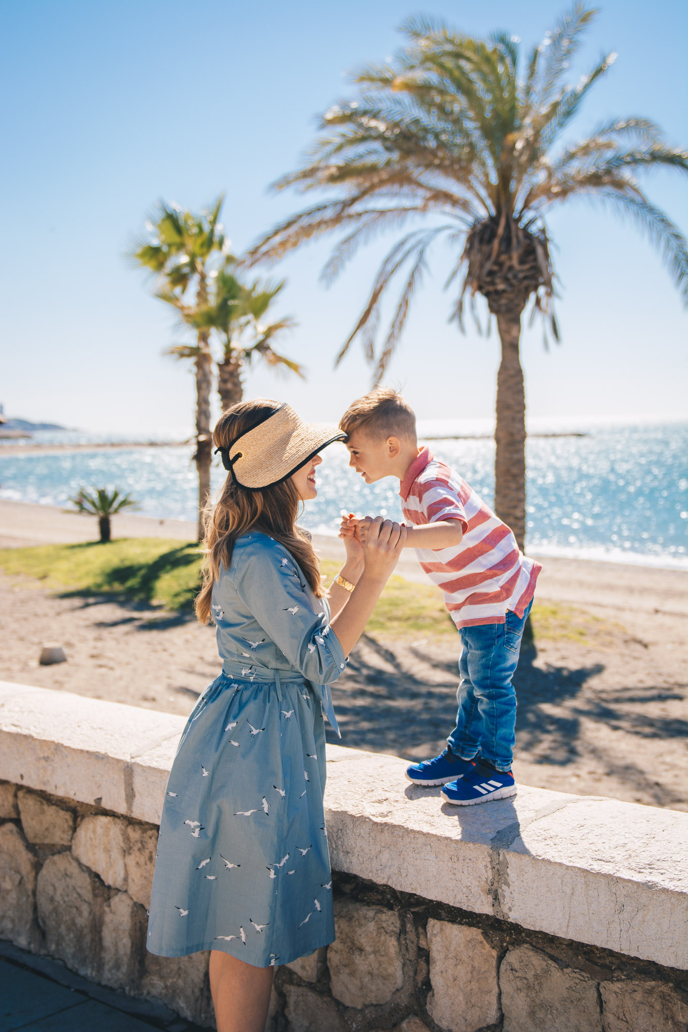 Mom and son in Malaga