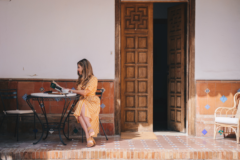 Spanish blogger mango dress