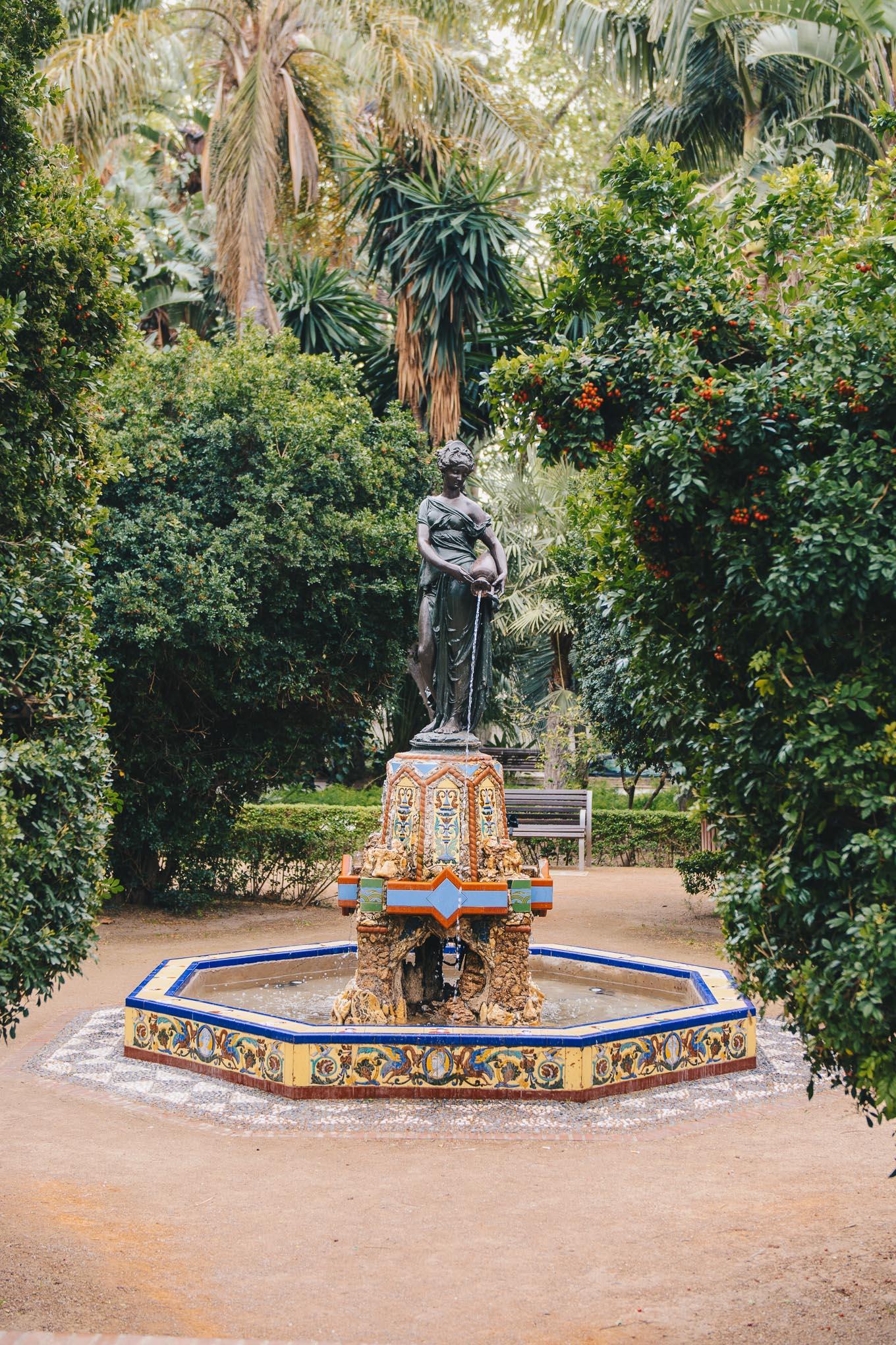 Statue parque de Malaga