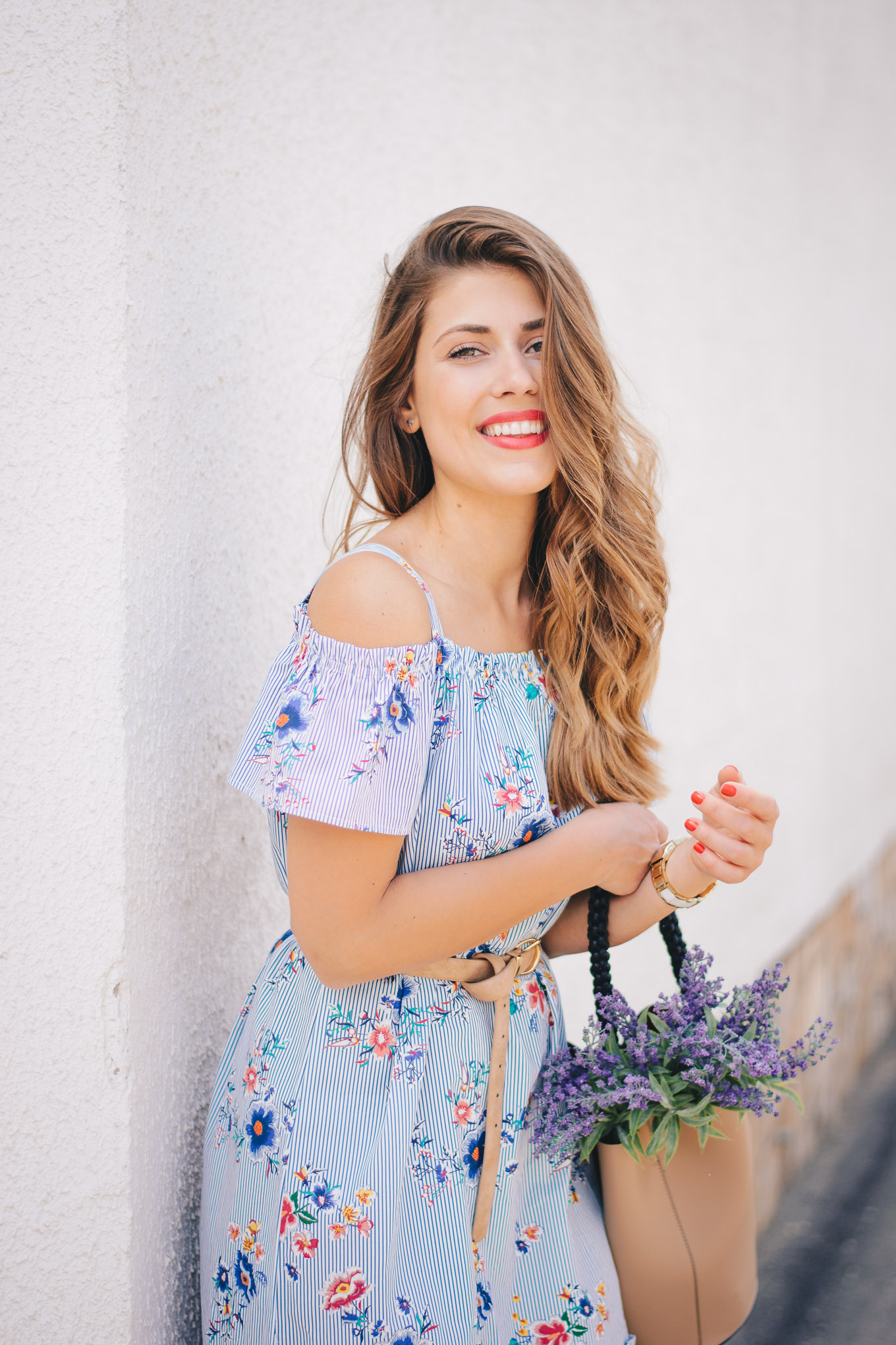 spring outfit inspiration floral dress