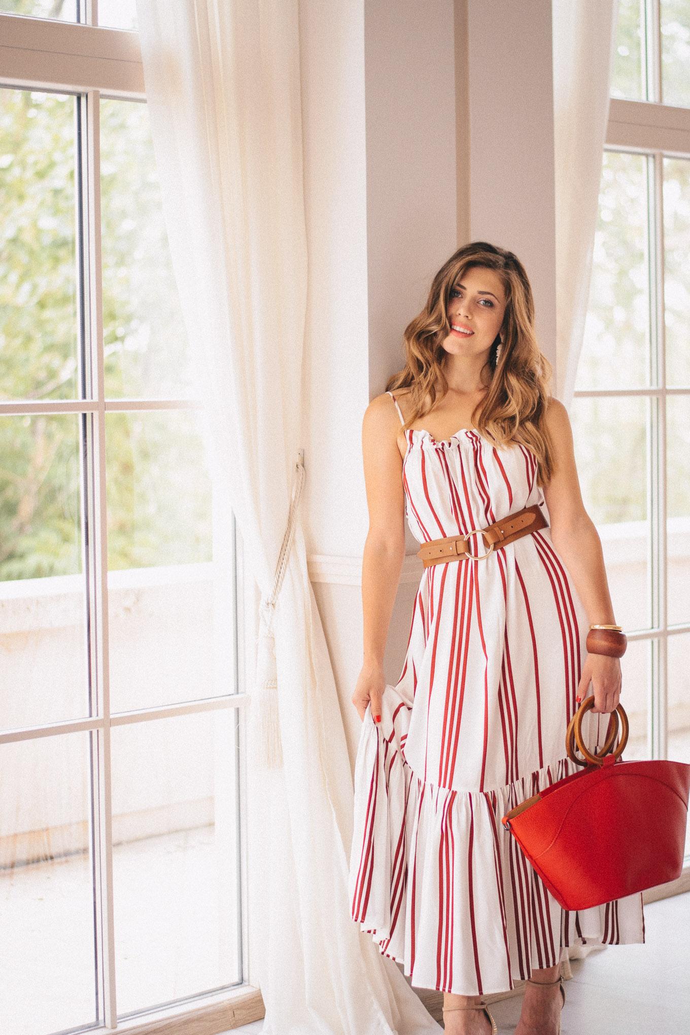 Beautiful Denina Martin wearing dress